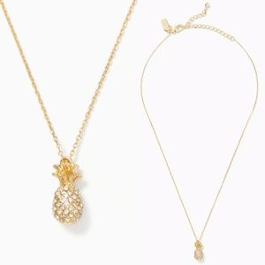 Kate Spade By the Pool Pave Pineapple Necklace